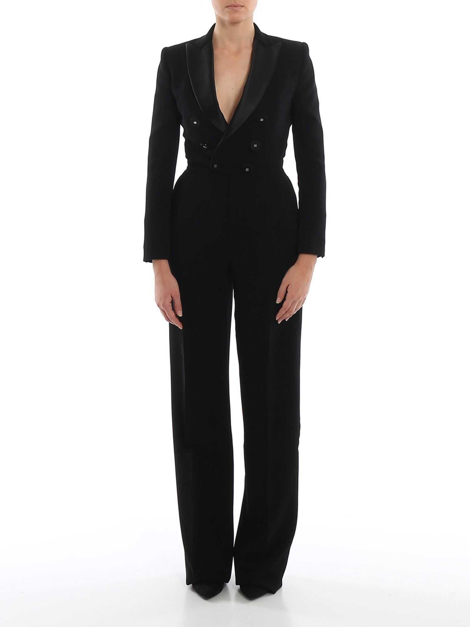 DSQUARED2 Oscar Black Viscose Crepe Jumpsuit Black