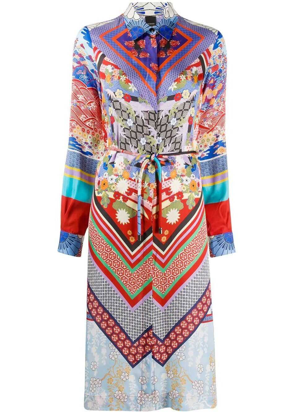 Pinko Viscose Dress MULTICOLOR