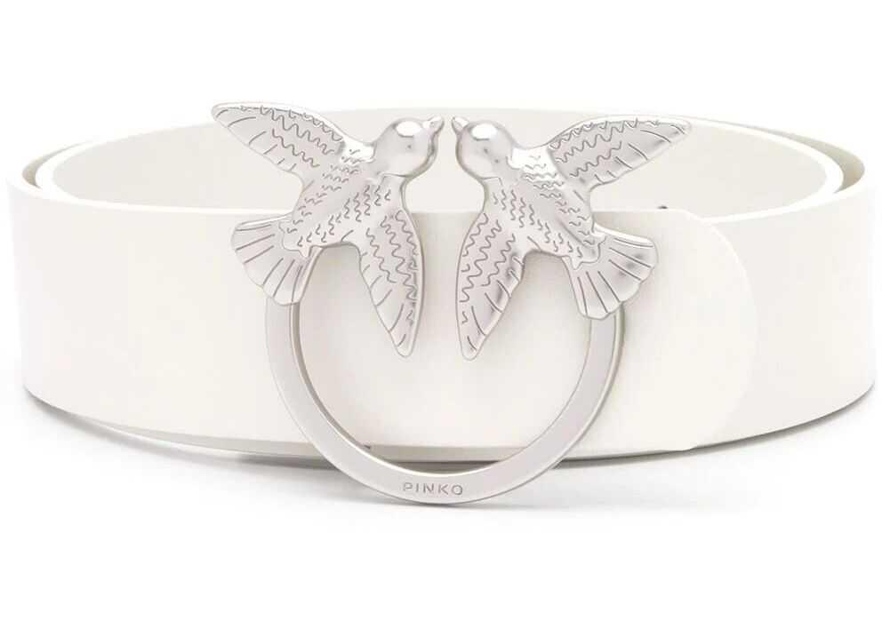 Pinko Leather Belt WHITE