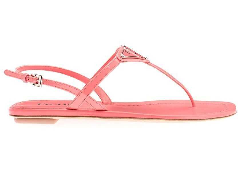 Prada Leather Sandals PINK