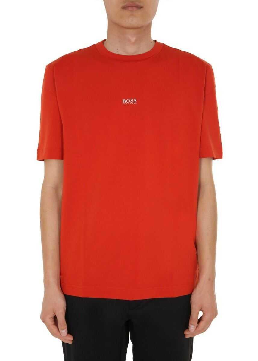 BOSS Hugo Boss Cotton T-Shirt ORANGE
