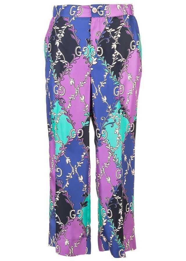 Gucci Silk Pants PURPLE