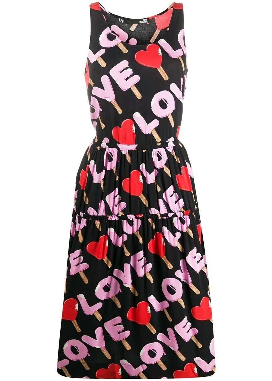 LOVE Moschino Viscose Dress BLACK