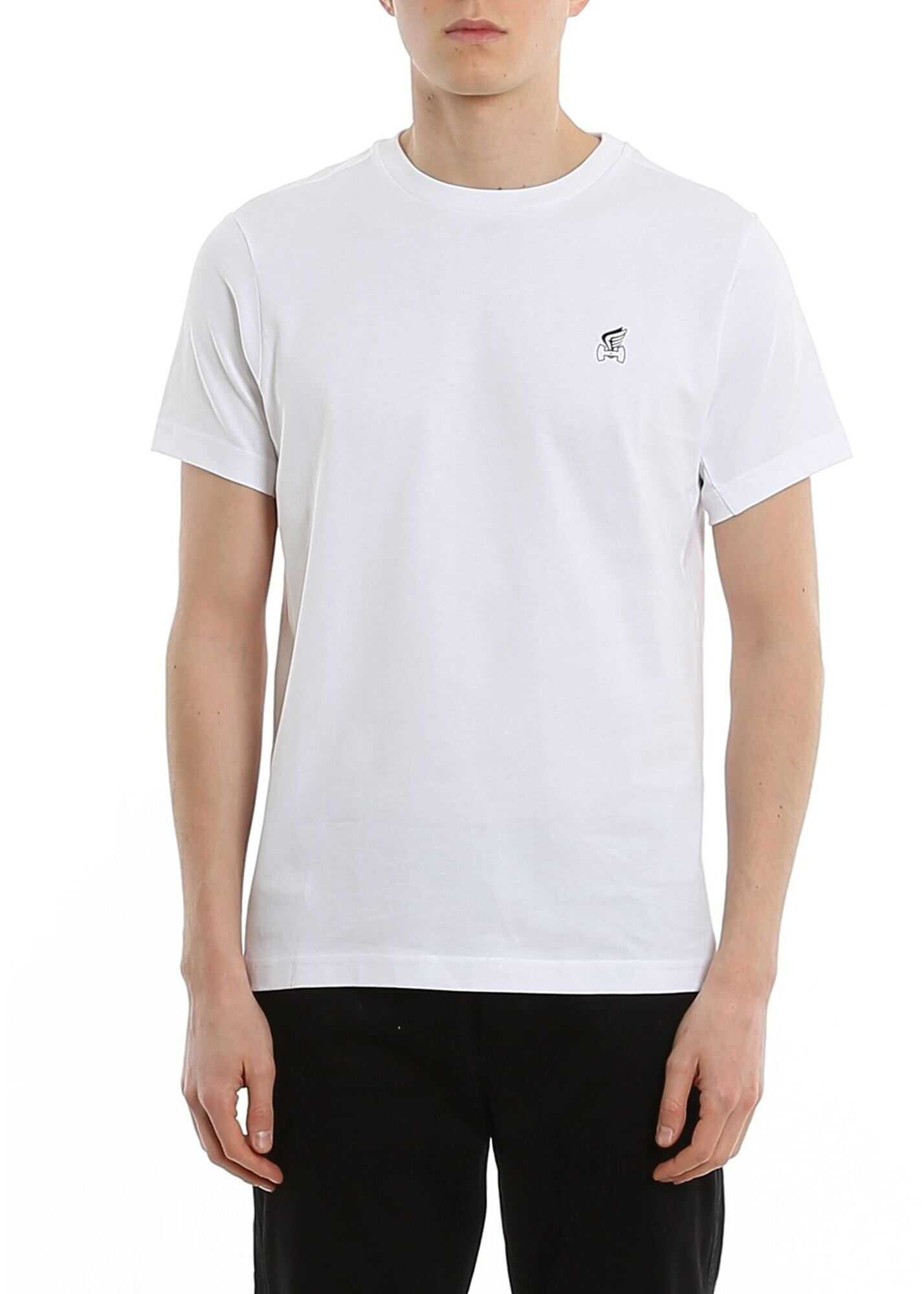 Hogan Logo Print Regular Fit Jersey T-Shirt White