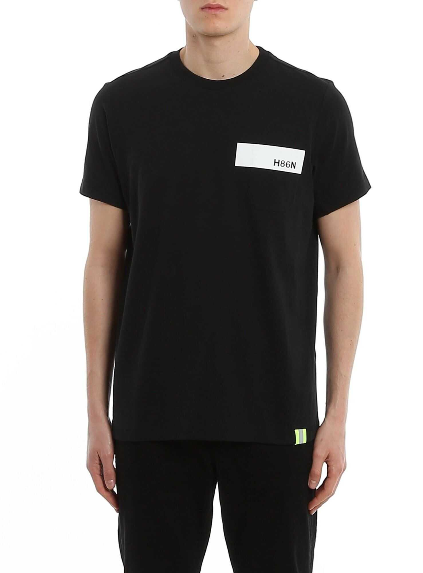 Hogan H86N Print Cotton T-Shirt Black