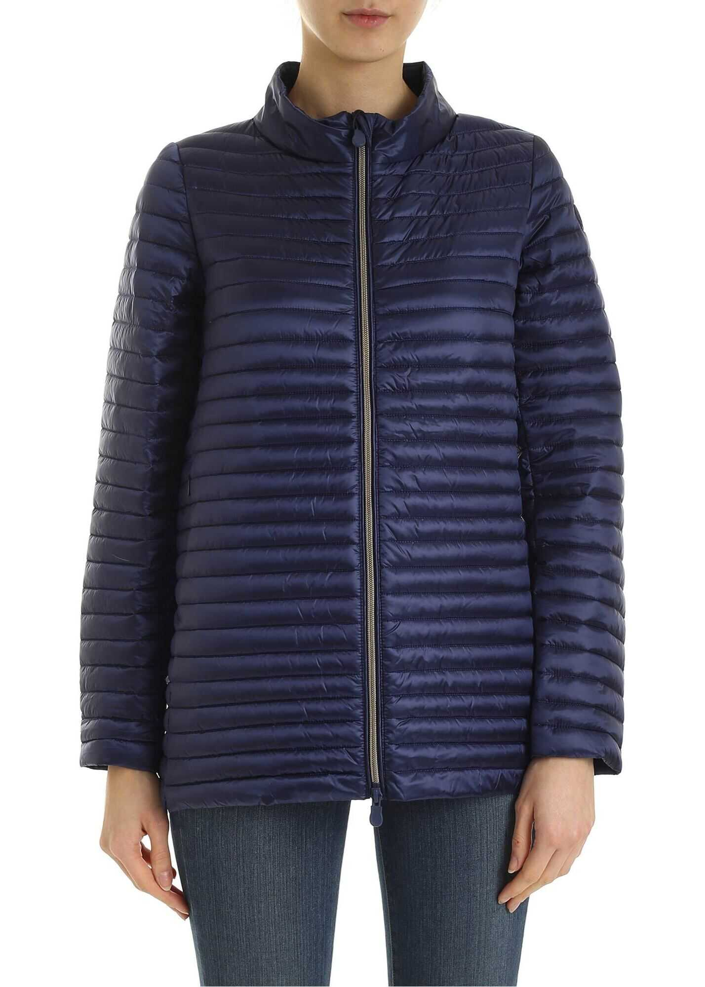 Save the Duck Quilted Down Jacket In Blue Blue