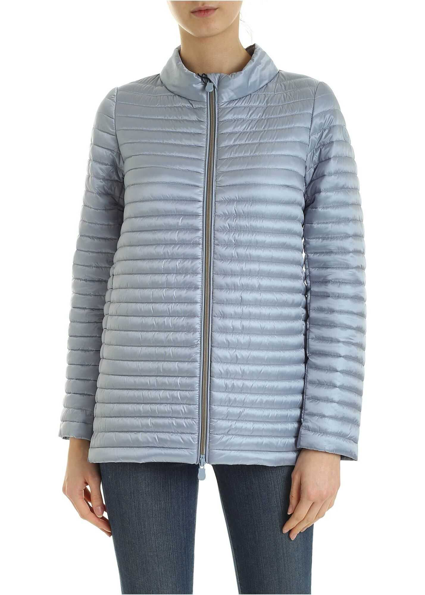 Save the Duck Quilted Down Jacket In Light Blue Light Blue