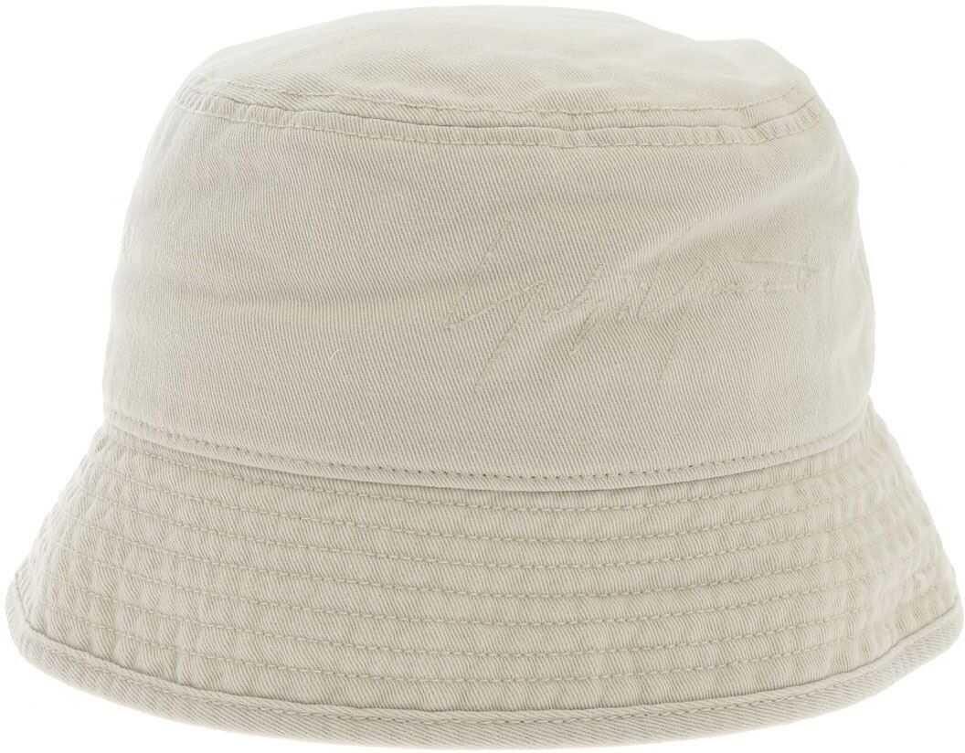 Y-3 Logo Bucket Hat In Ecru Color Beige