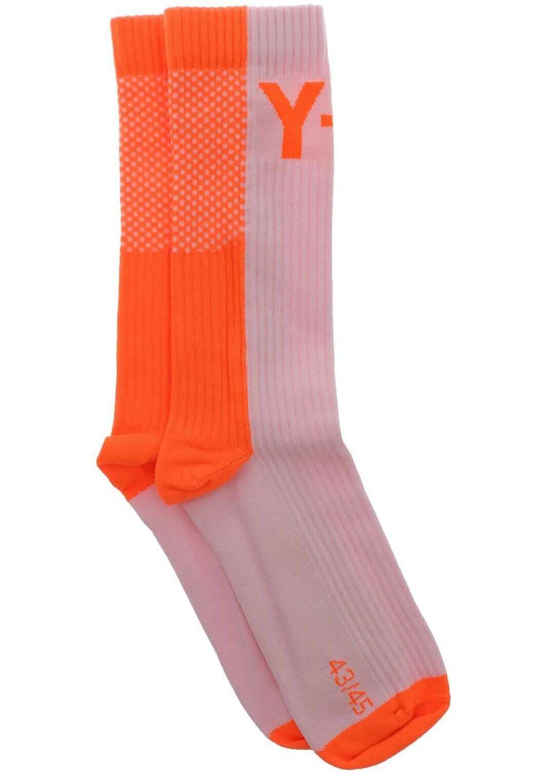 Y-3 Socks In Pink And Orange Fluo Pink