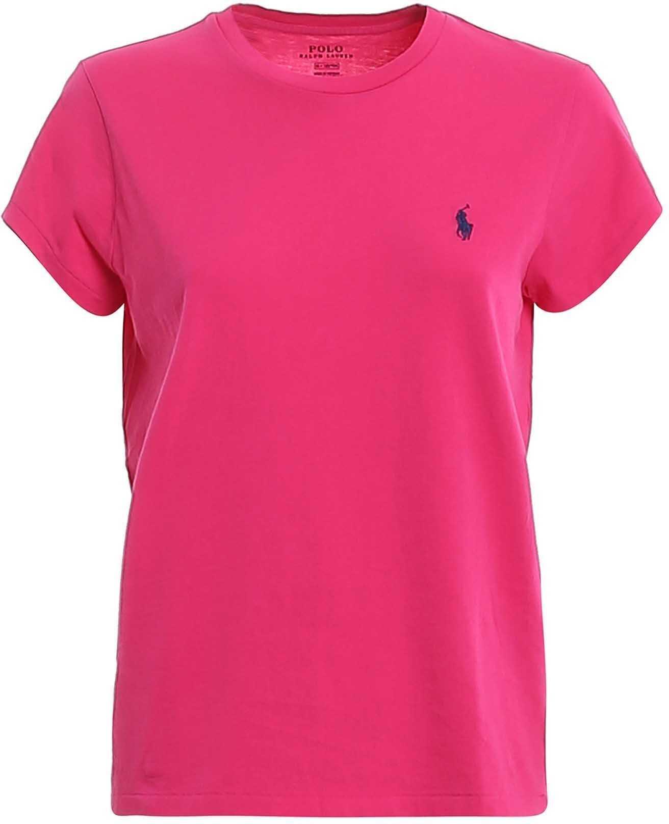 Ralph Lauren Logo Embroidery Jersey Fuchsia T-Shirt Fuchsia