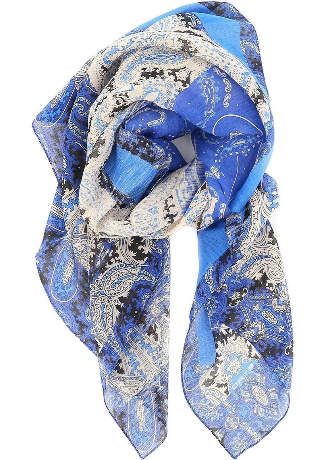 ETRO Delhy Scarf Blue
