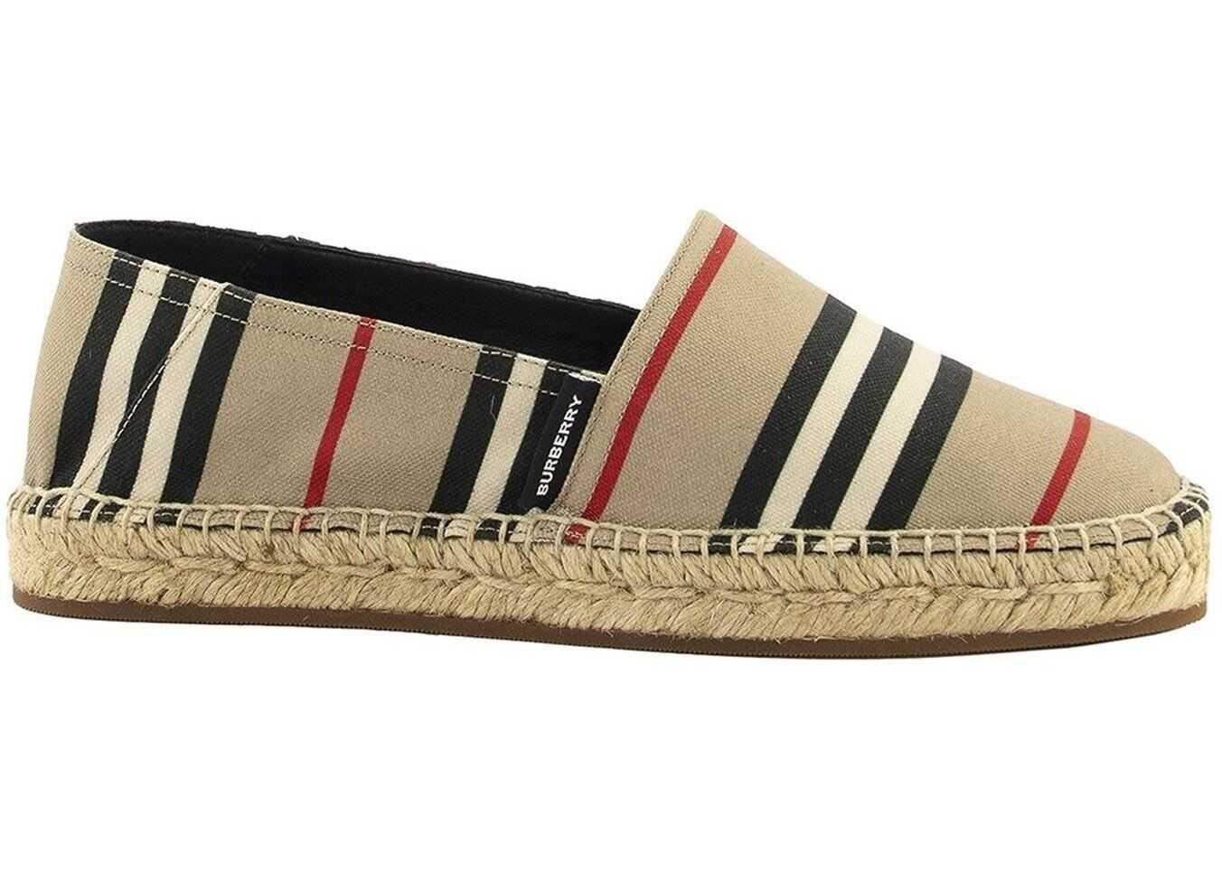 Burberry Icon Stripe Espadrilles Beige