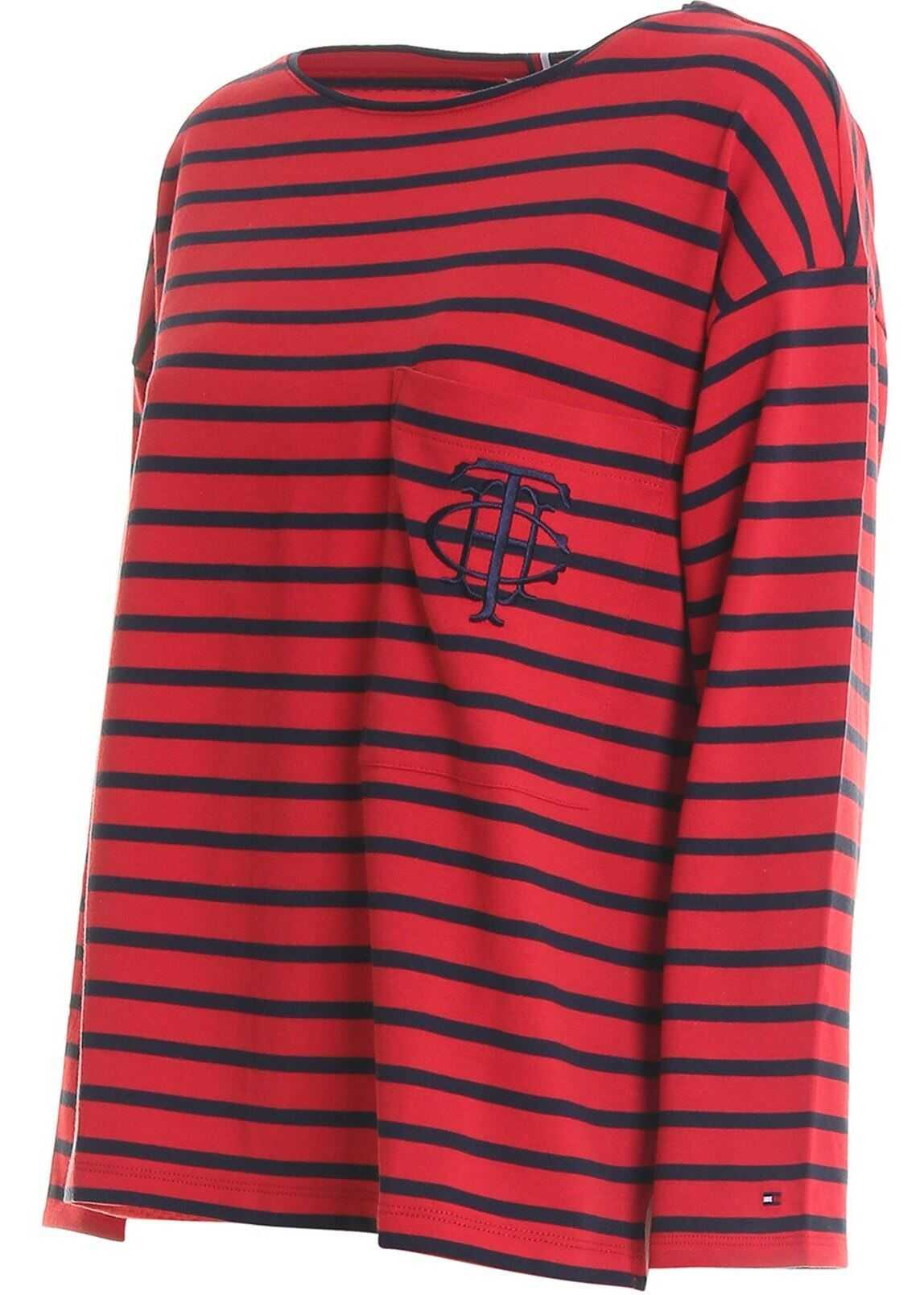 Tommy Hilfiger The Essential Breton T-Shirt Red