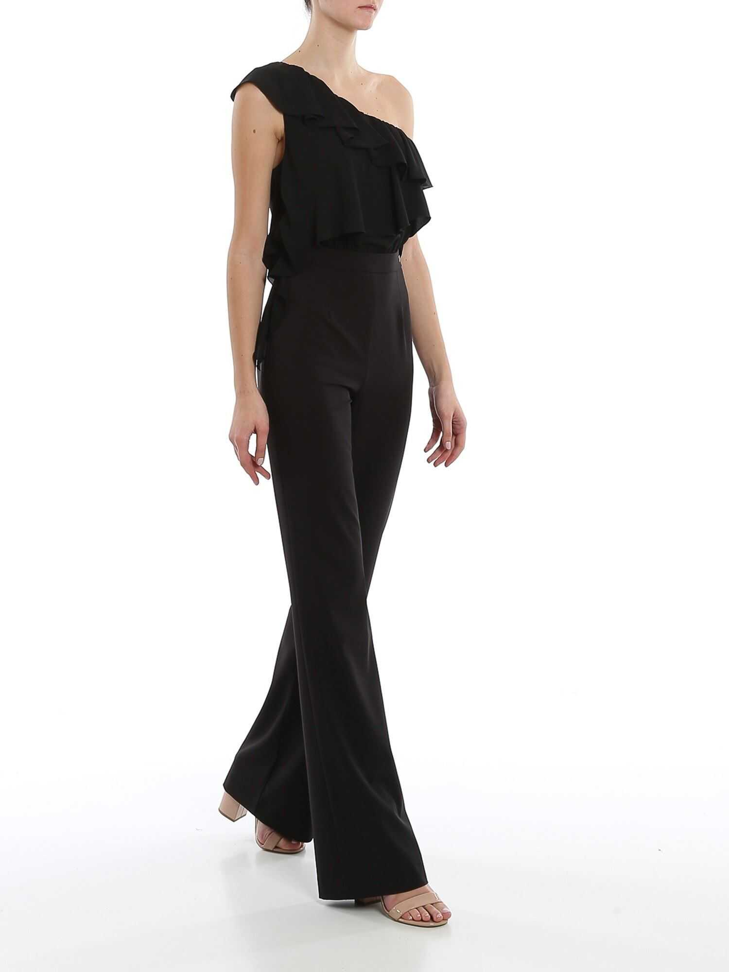 Be Blumarine Crepe Jumpsuit In Black Black
