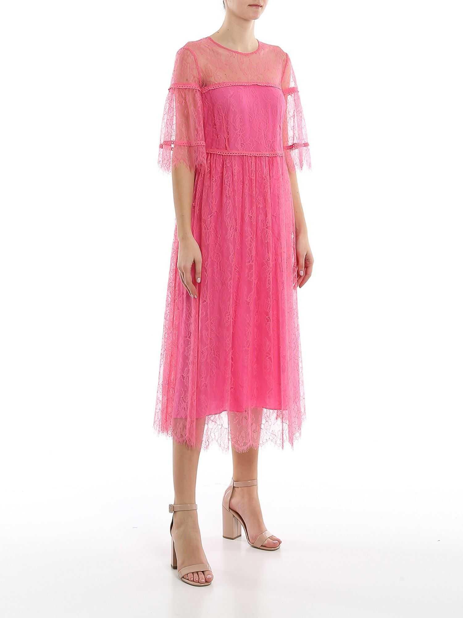 Be Blumarine Lace Midi Dress Pink