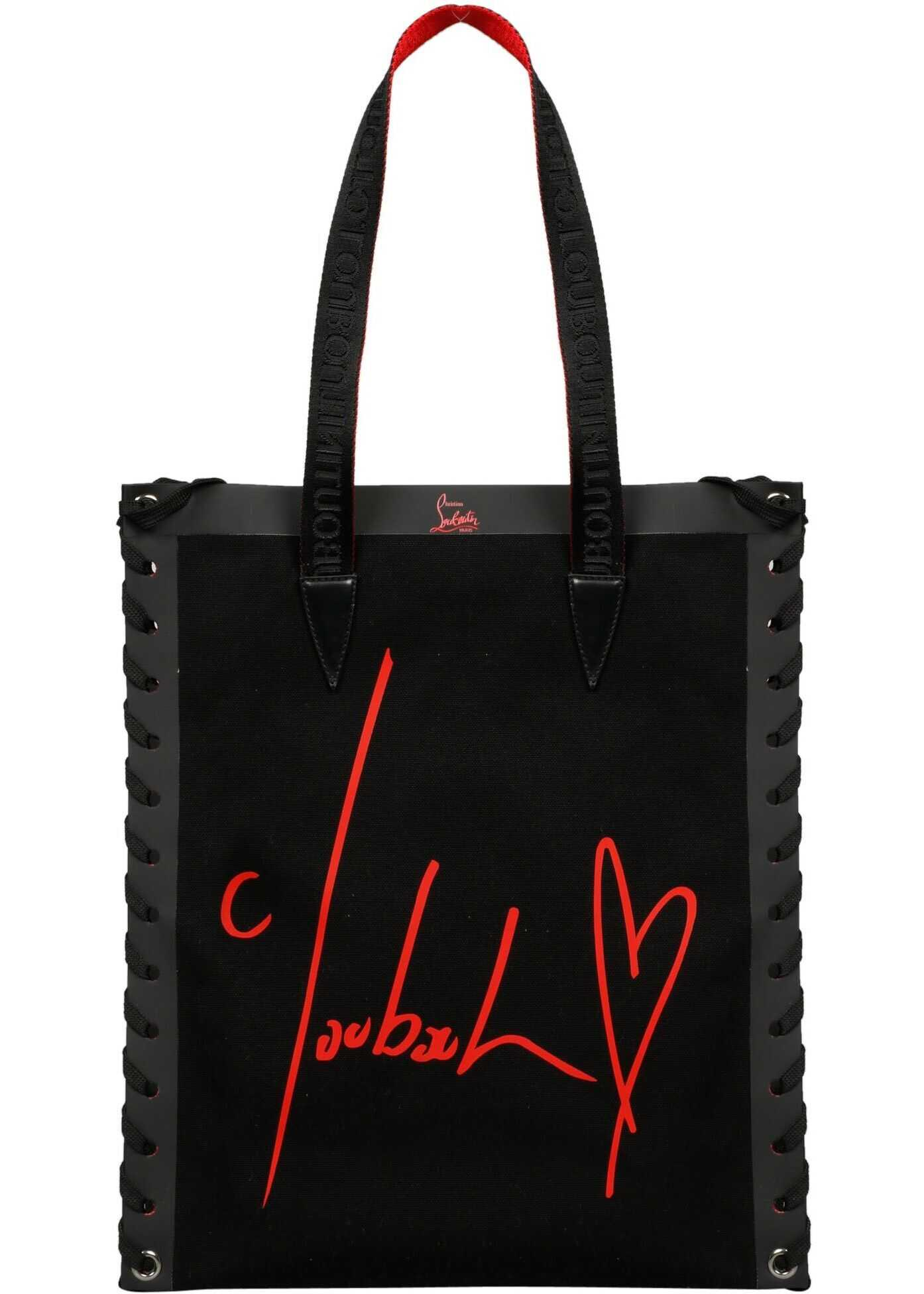 Christian Louboutin Canvas Tote BLACK
