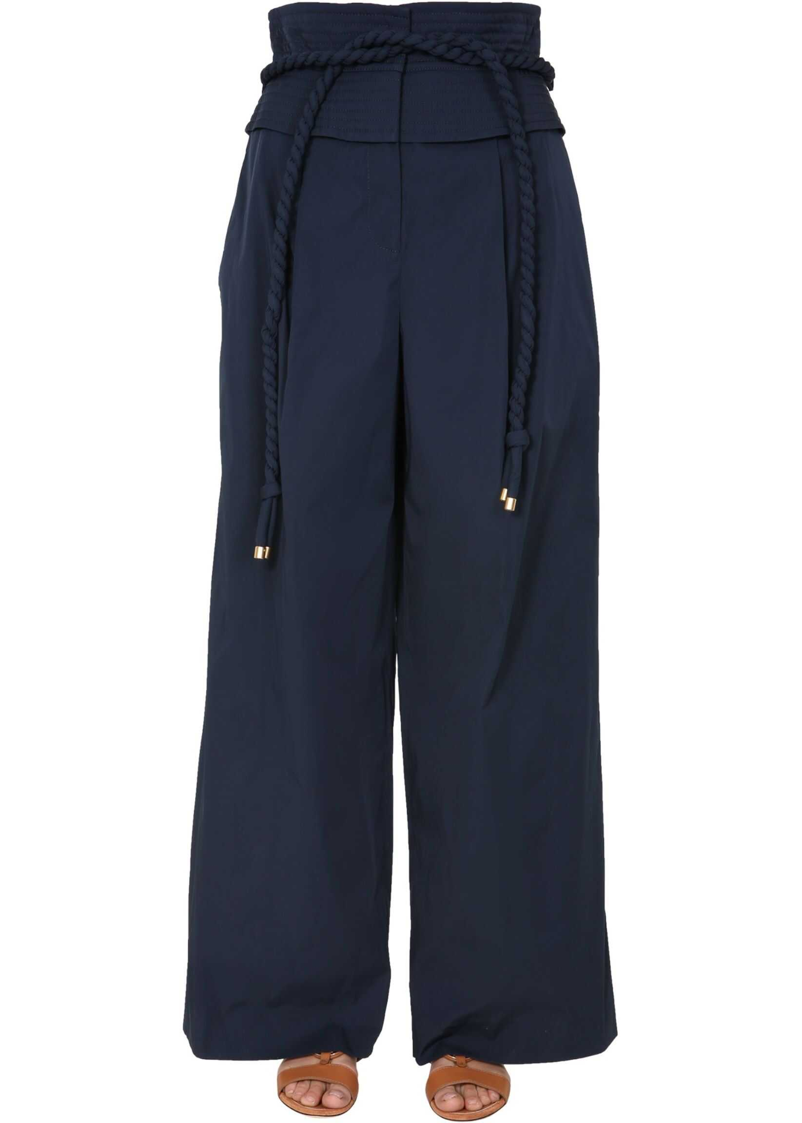 Tory Burch Wide Trousers BLUE