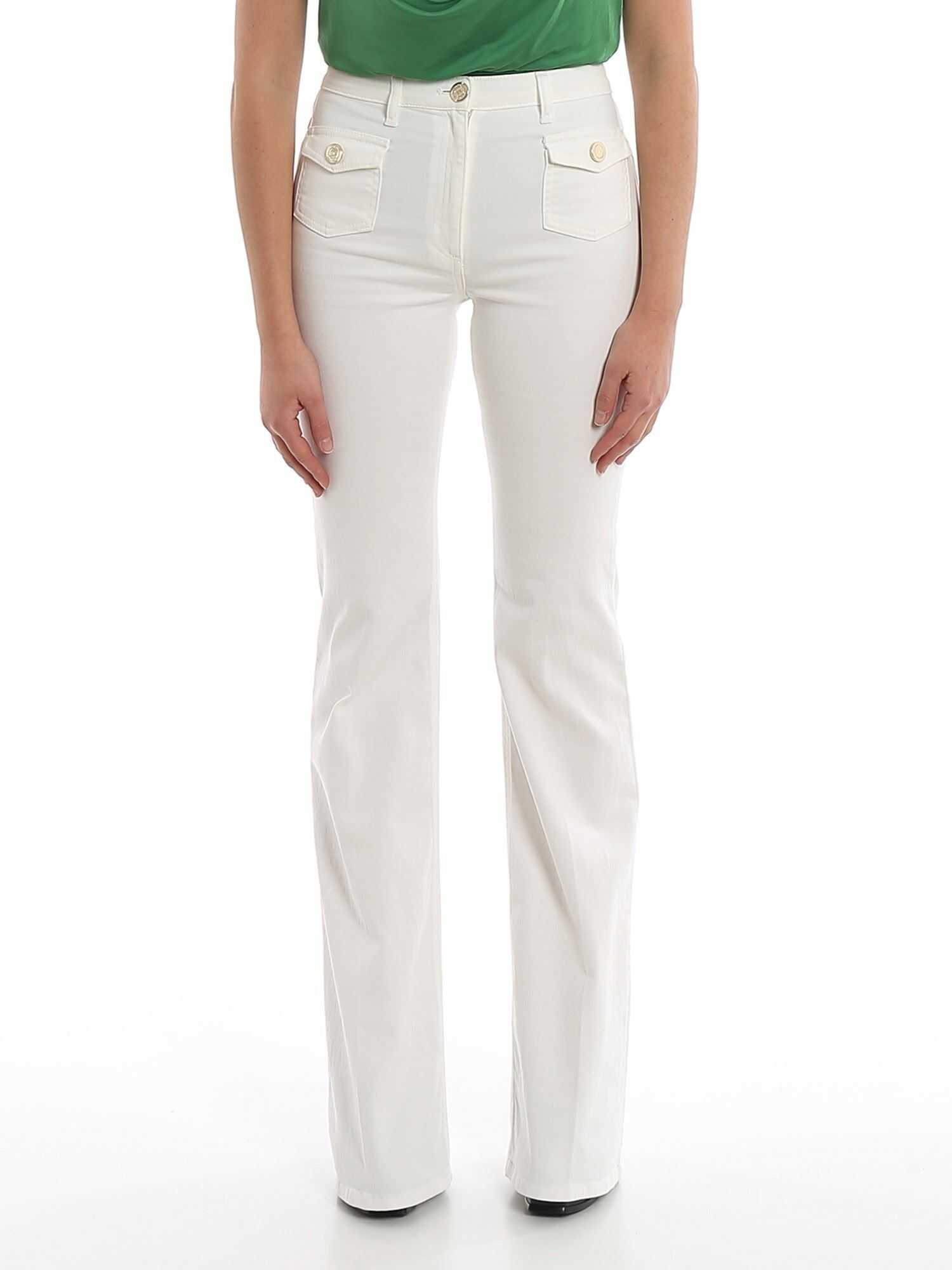 Boot Leg White Jeans thumbnail