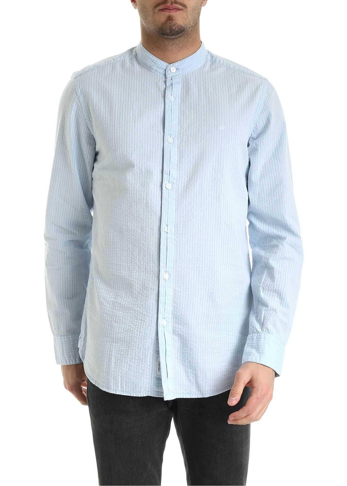 Seersucker Shirt In Light Blue thumbnail