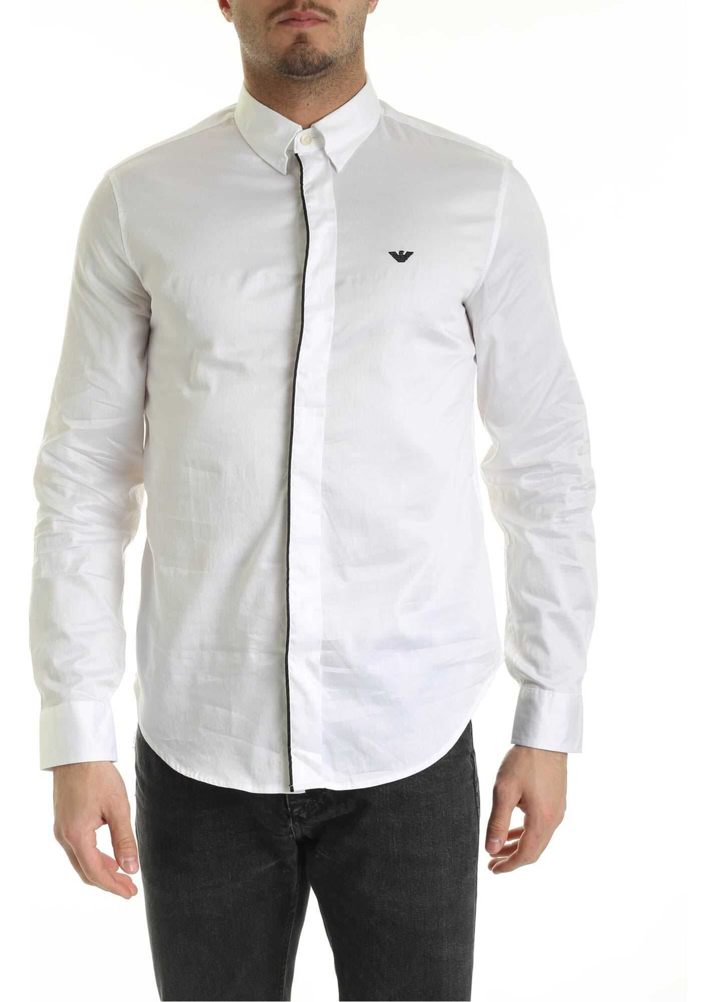 Shirt In White With Black Edges thumbnail