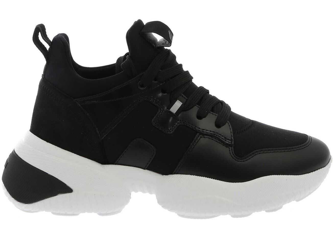 Hogan Interaction Sneakers In Black Black