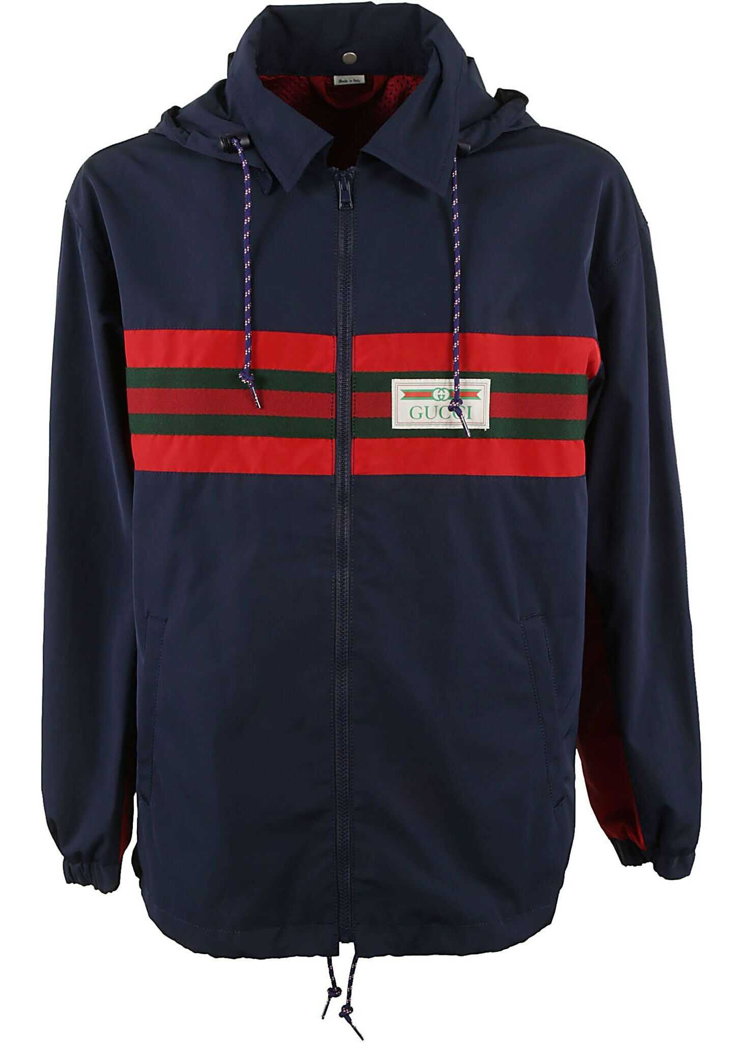 Gucci Polyester Outerwear Jacket BLUE