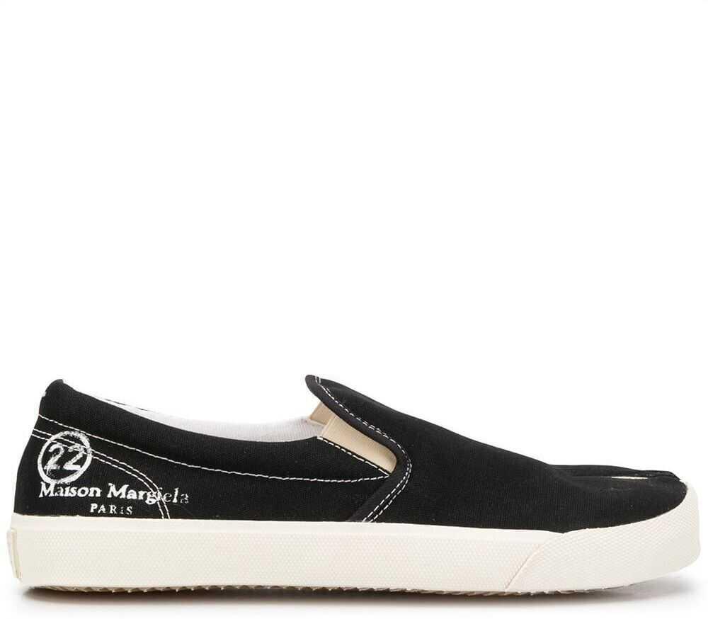 Maison Margiela Cotton Slip On Sneakers BLACK