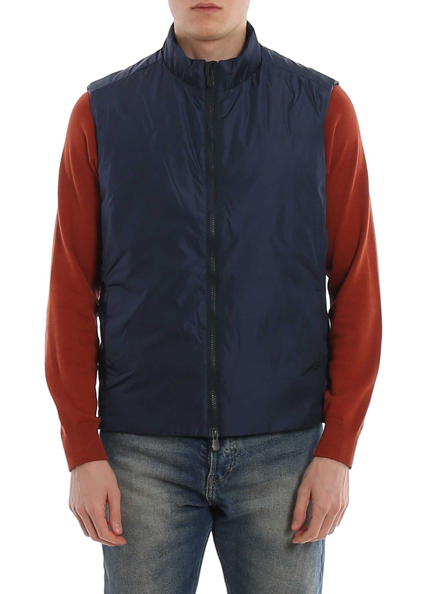 Save the Duck Water Resistant Padded Waistcoat In Blue Blue