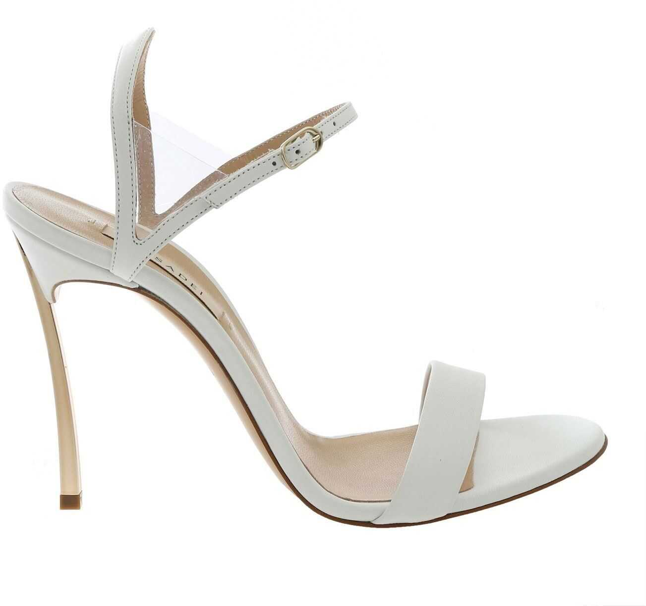 Casadei Blade Sandals In White White