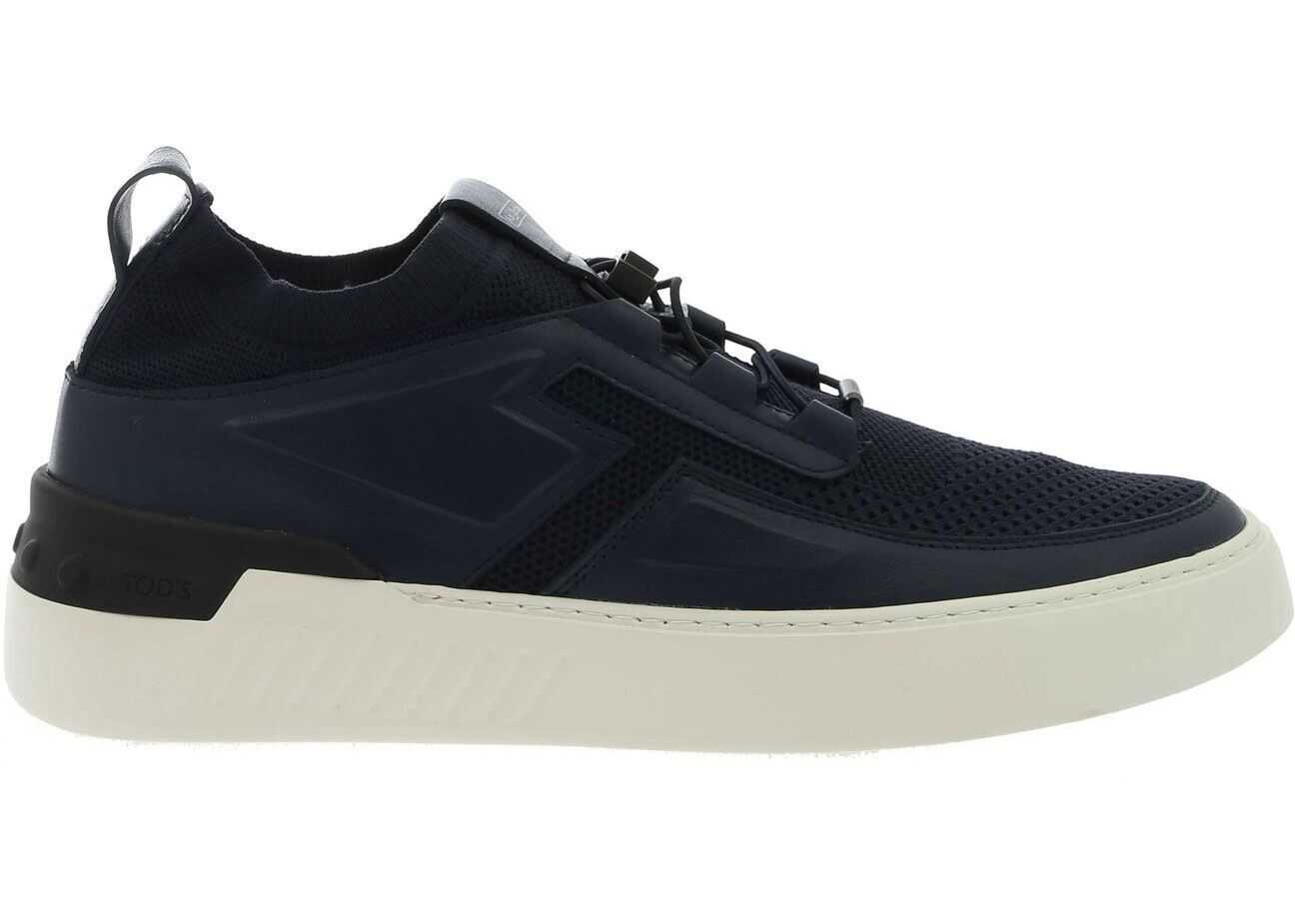 TOD'S No Code X Sneakers In Blue XXM14C0CM30NXI9998 Blue imagine b-mall.ro
