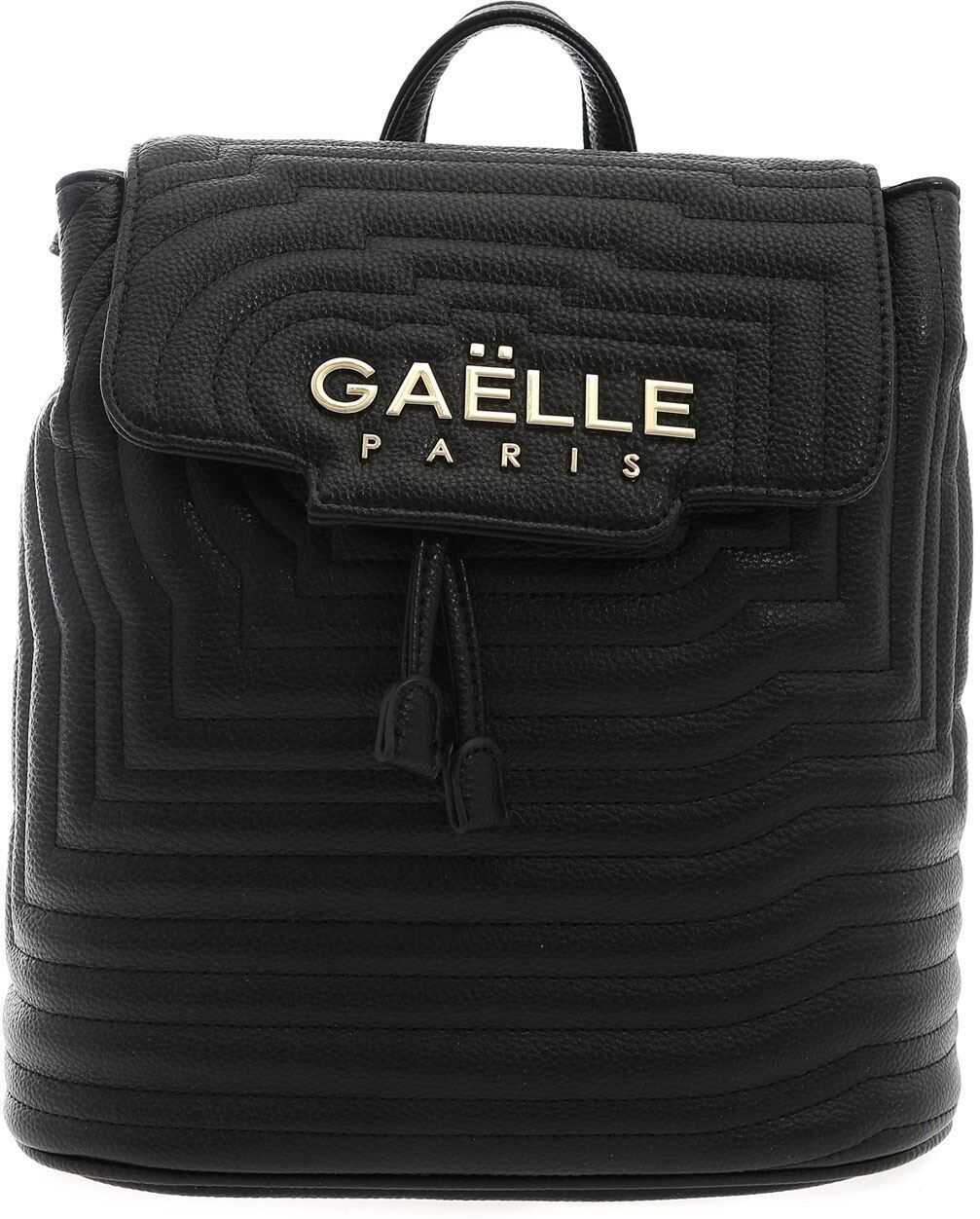 GAëLLE Paris Synthetic Leather Backpack In Black Black