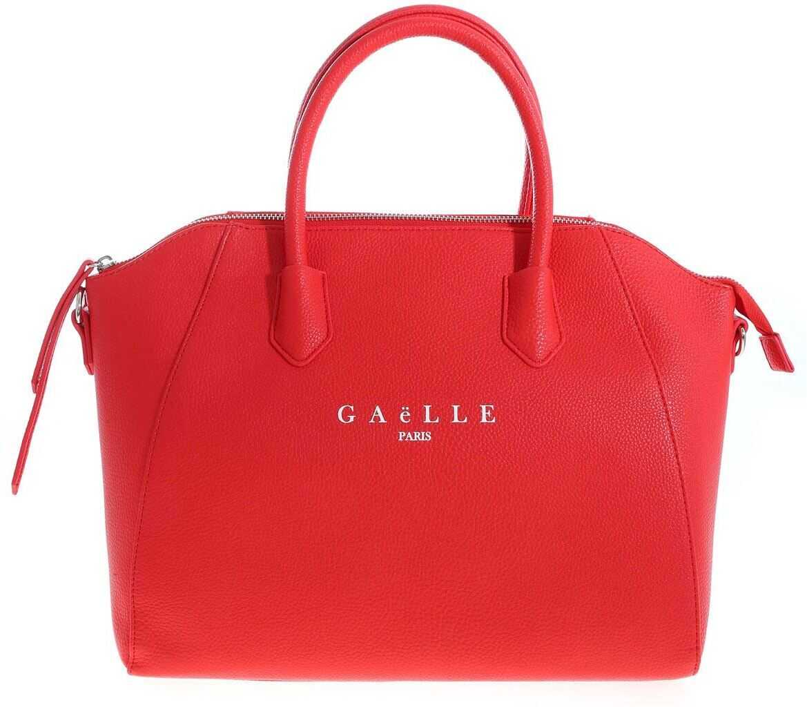 GAëLLE Paris Handbag In Red With Logo Print Red