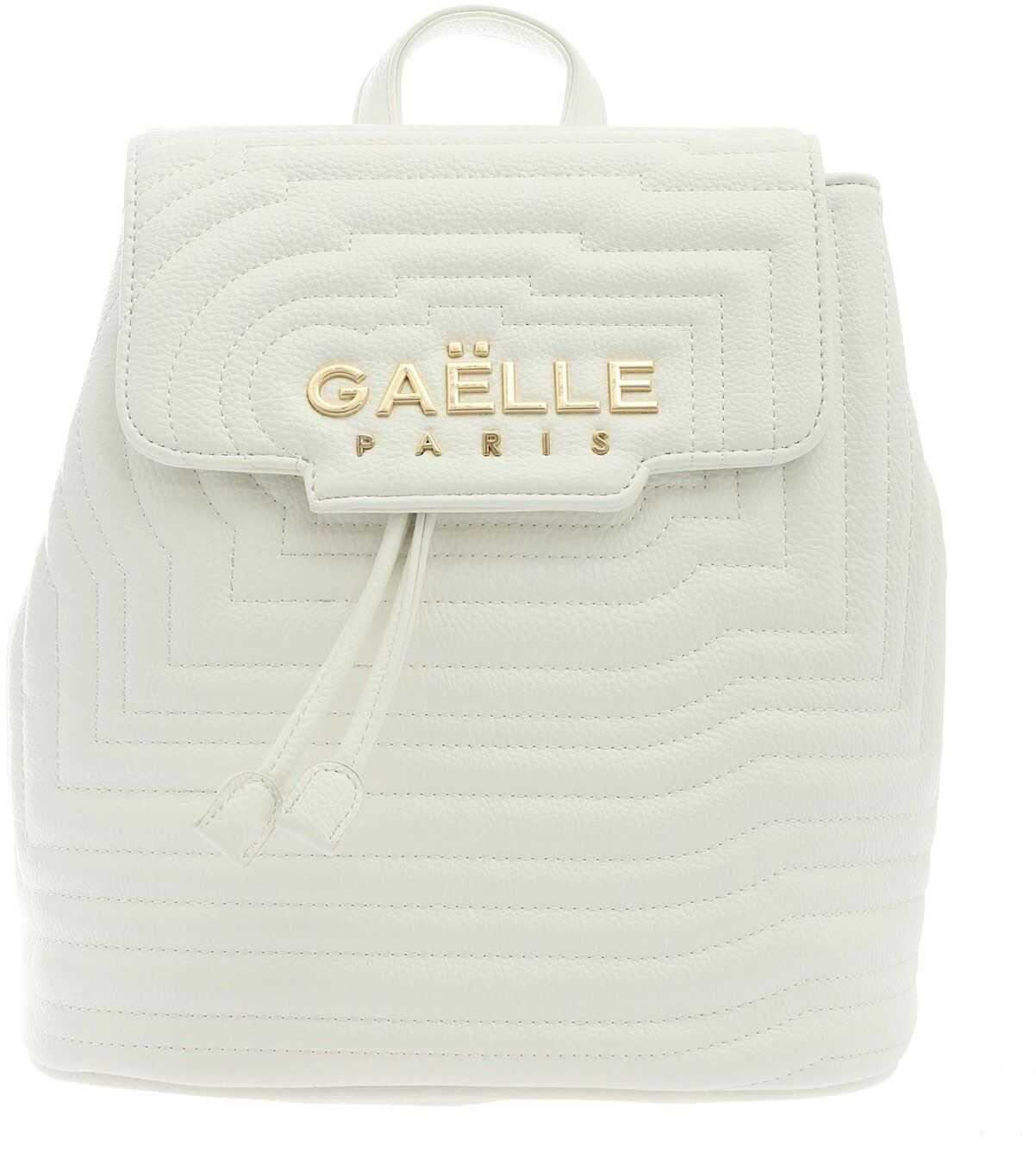 GAëLLE Paris Synthetic Leather Backpack In White White