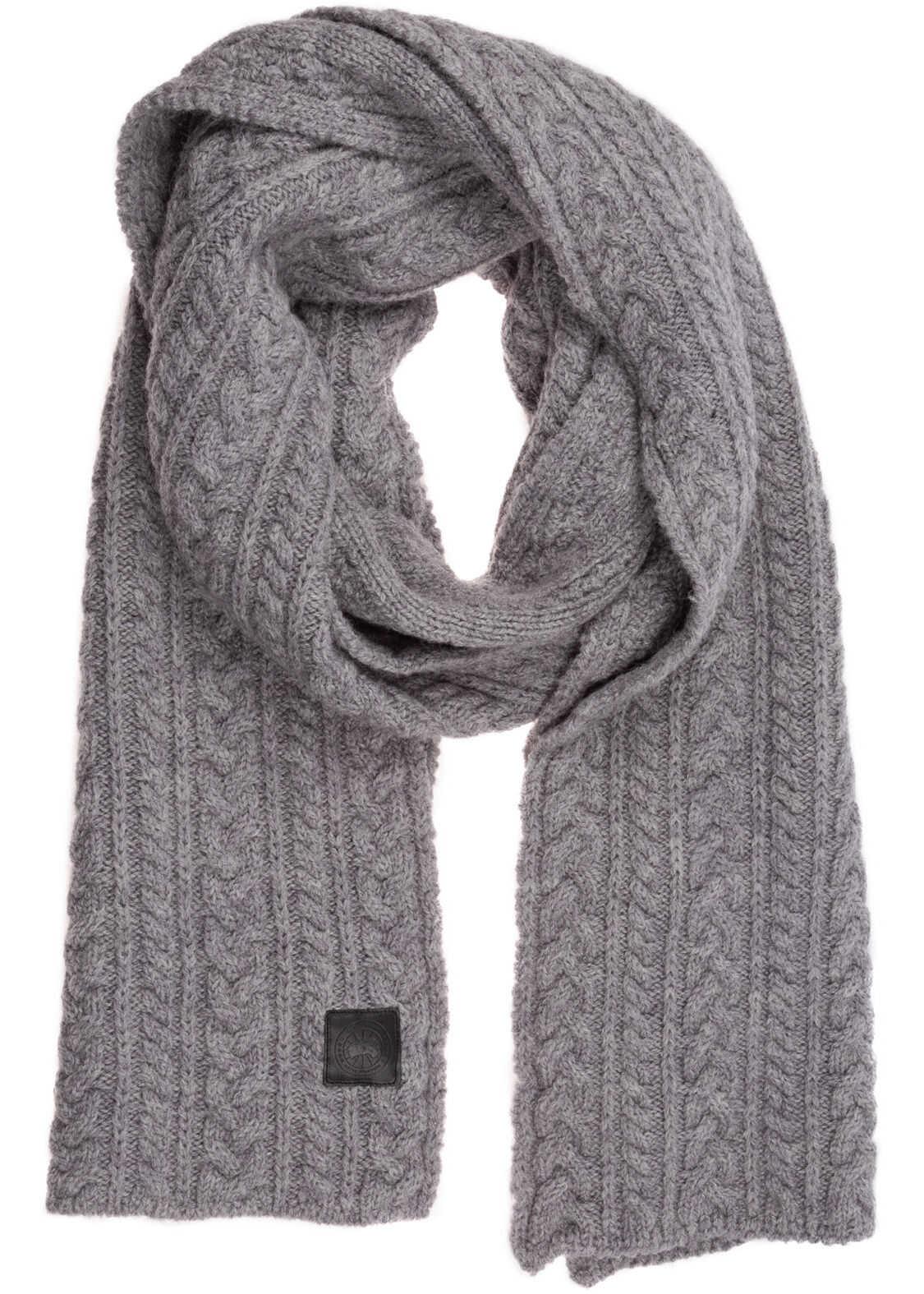 CANADA GOOSE Wool Scarf Grey