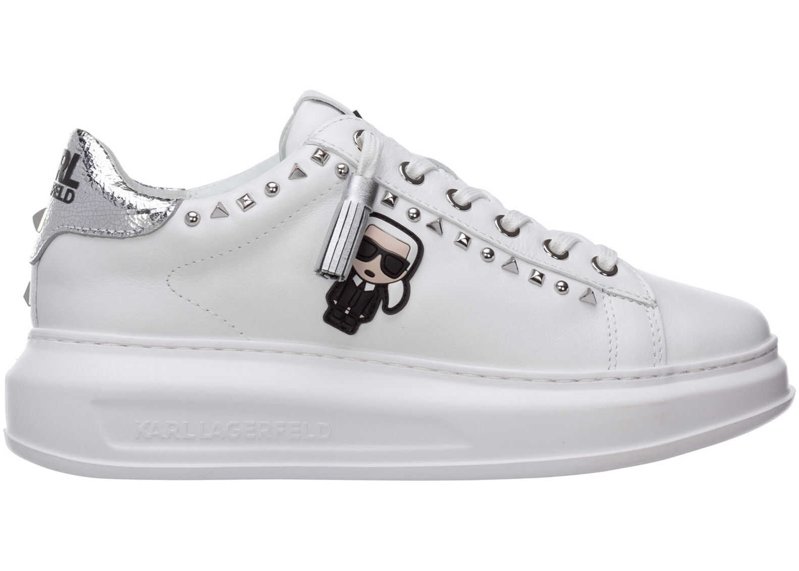 Karl Lagerfeld Shoes Leather Trainers Sneakers K/Ikonik White