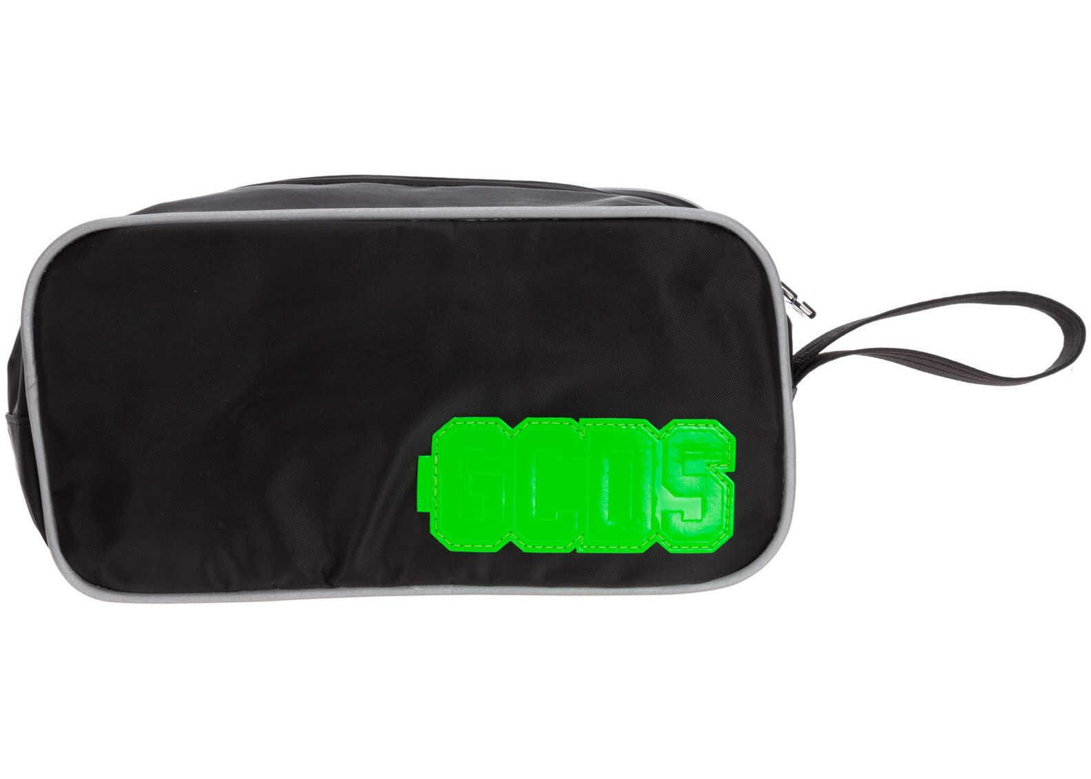 GCDS Wash Bag SS20M010045-02 Black imagine b-mall.ro