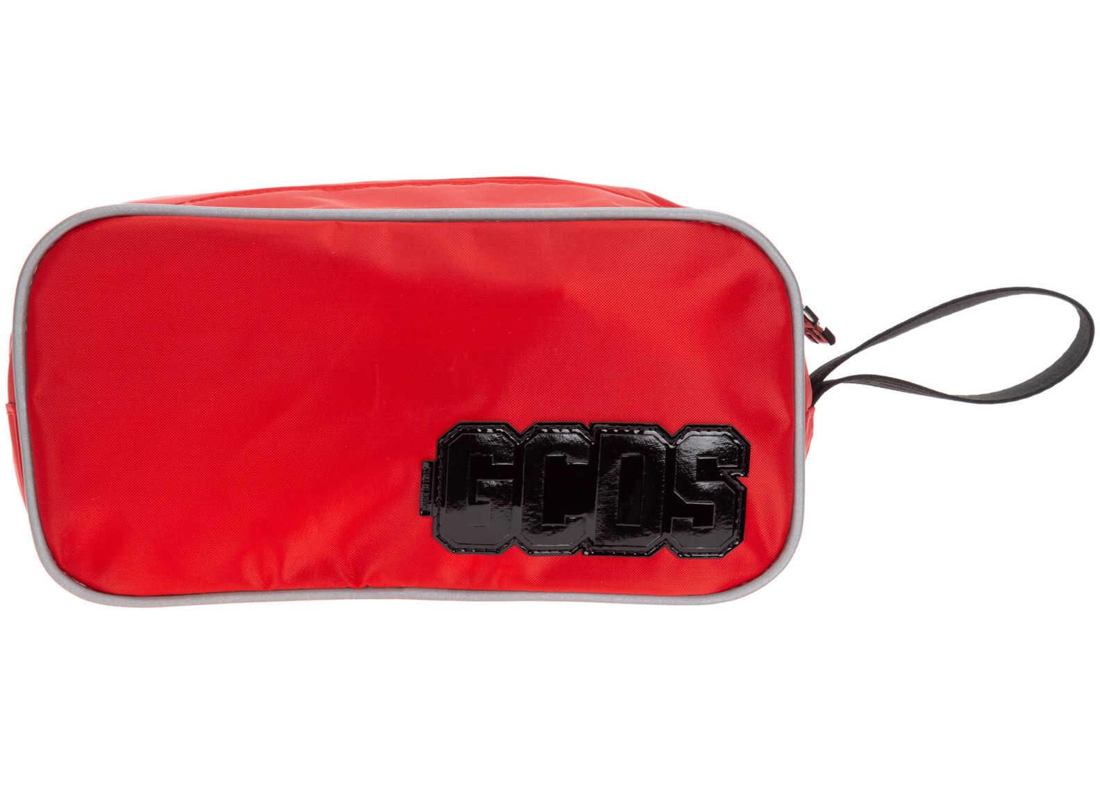 GCDS Wash Bag SS20M010045-03 Red imagine b-mall.ro