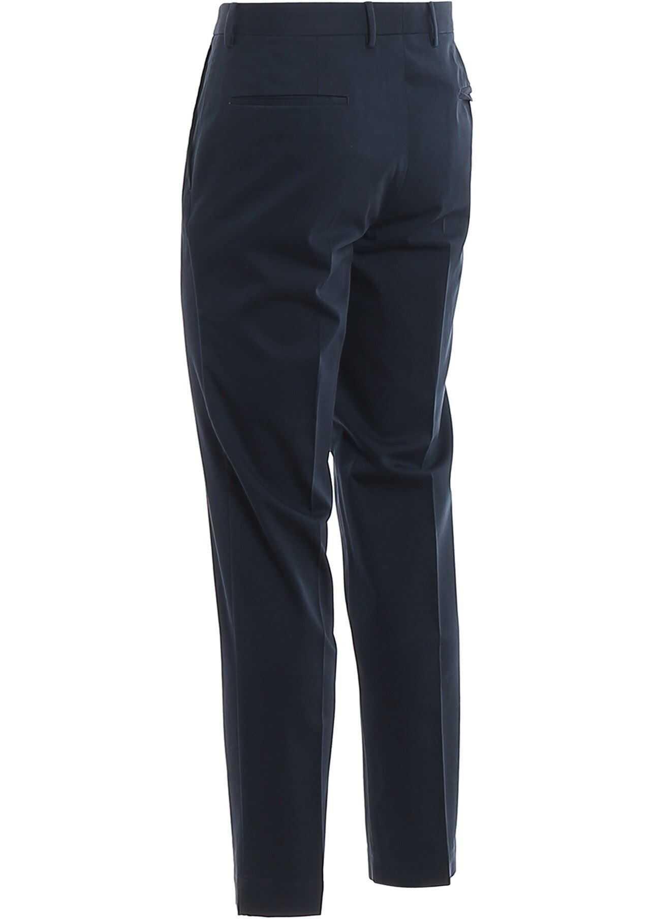 Incotex Cotton Tailored Pants Blue imagine