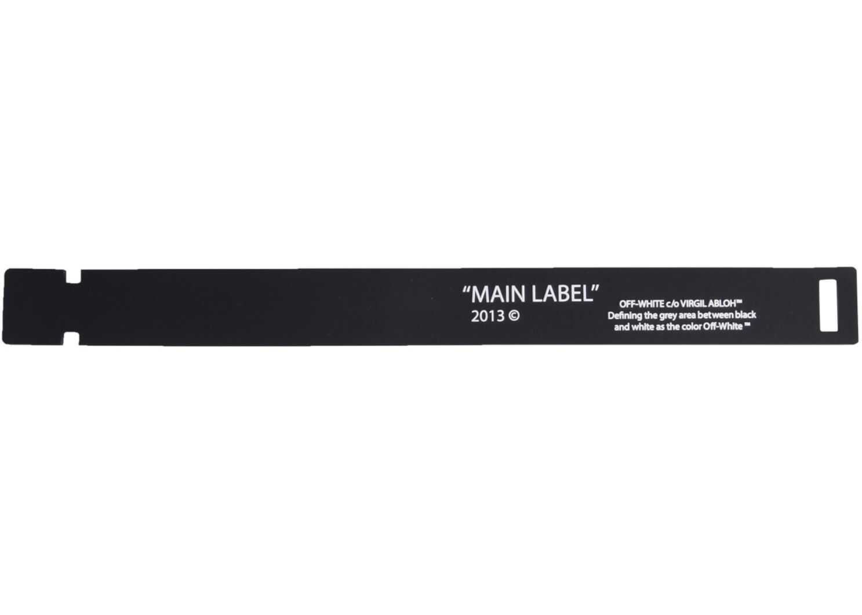 Off-White Label Bracelet BLACK