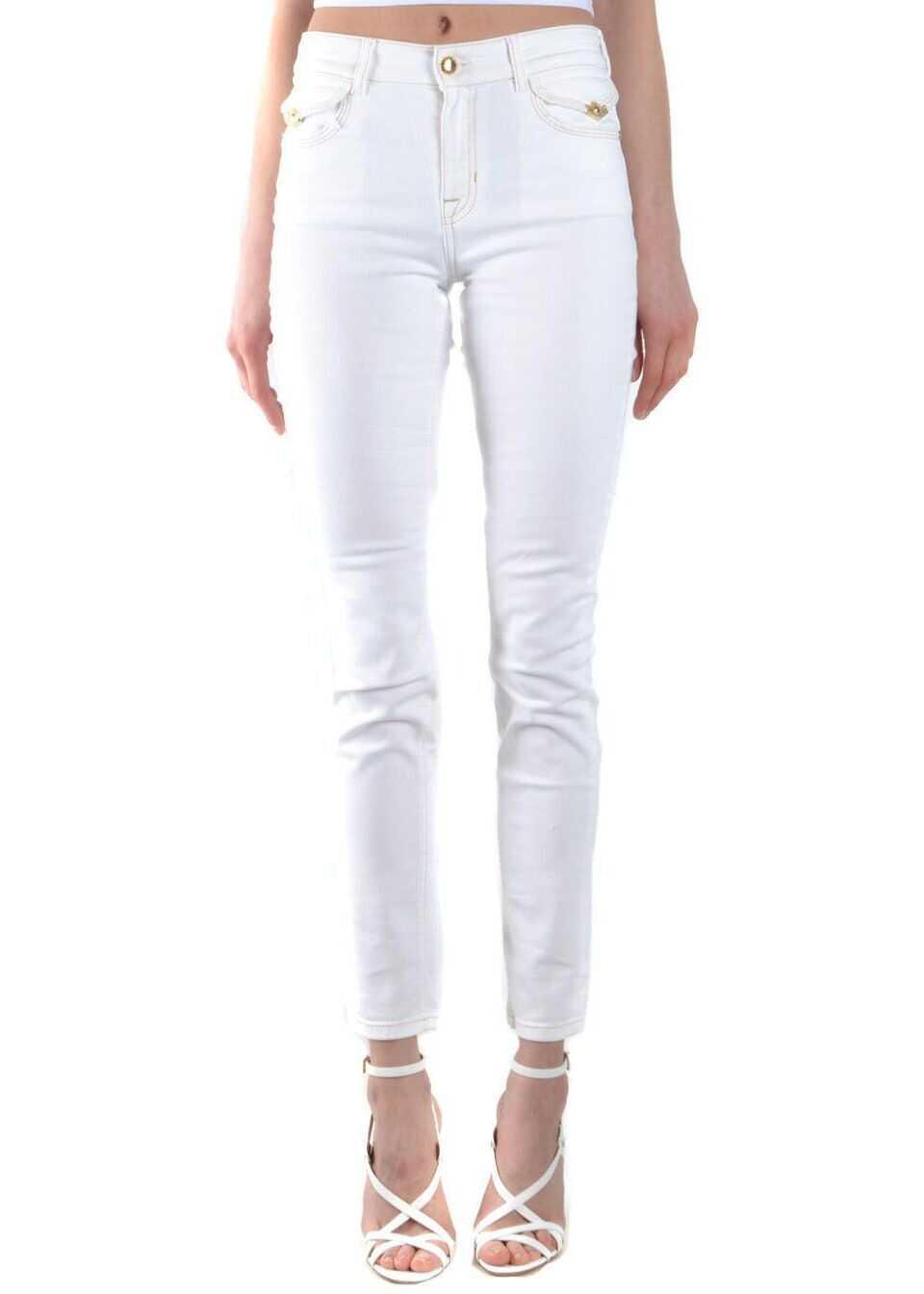 Versace Jeans Cotton Jeans WHITE