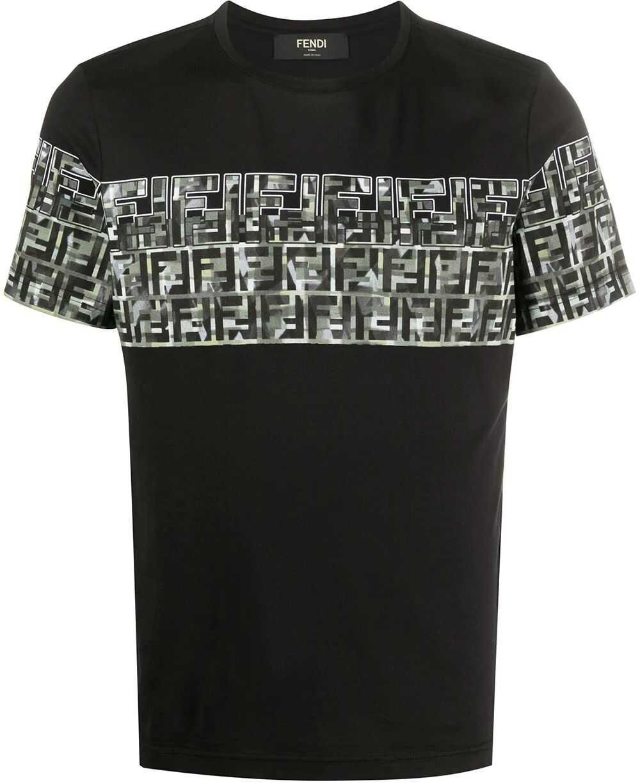 Fendi Cotton T-Shirt BLACK