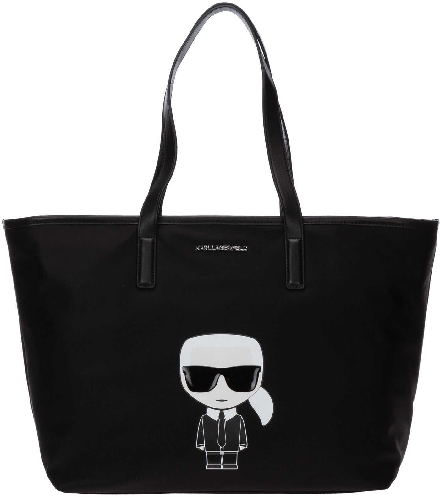 Karl Lagerfeld Handbag Tote Shopping Bag Purse K/Ikonik 20KW201W3089 Black imagine b-mall.ro