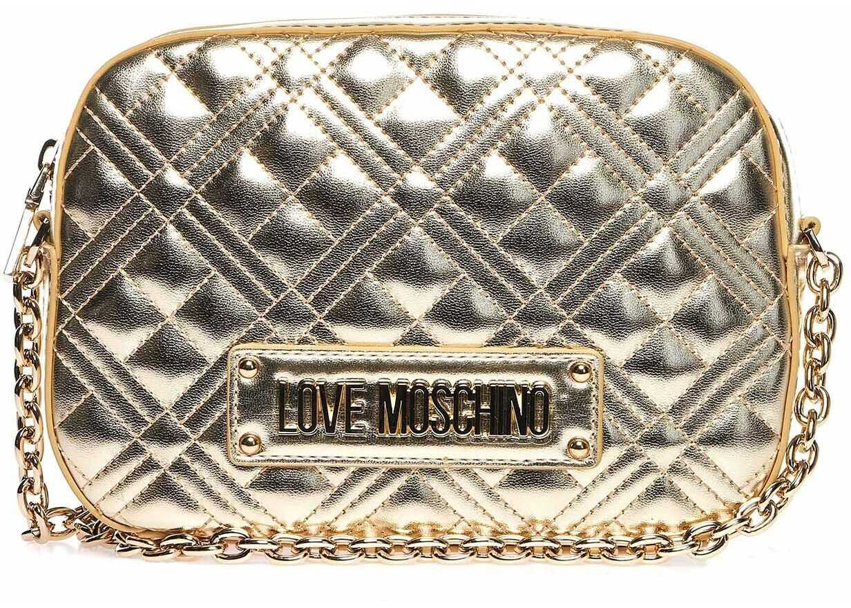 LOVE Moschino Quilted bag Gold
