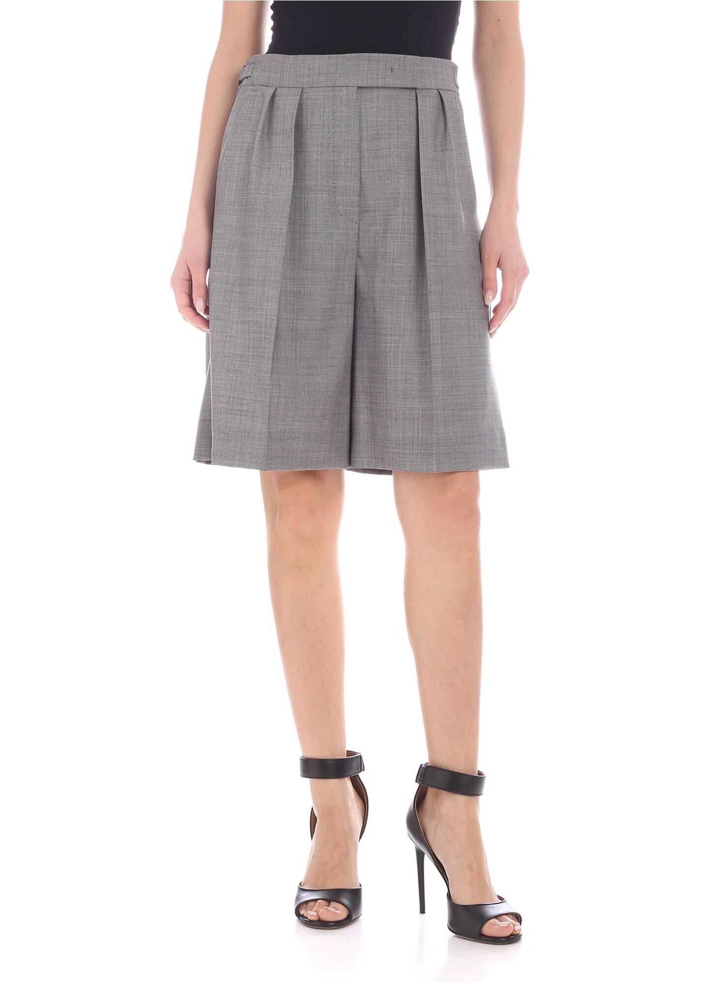Max Mara Ondina Shorts In Grey Grey