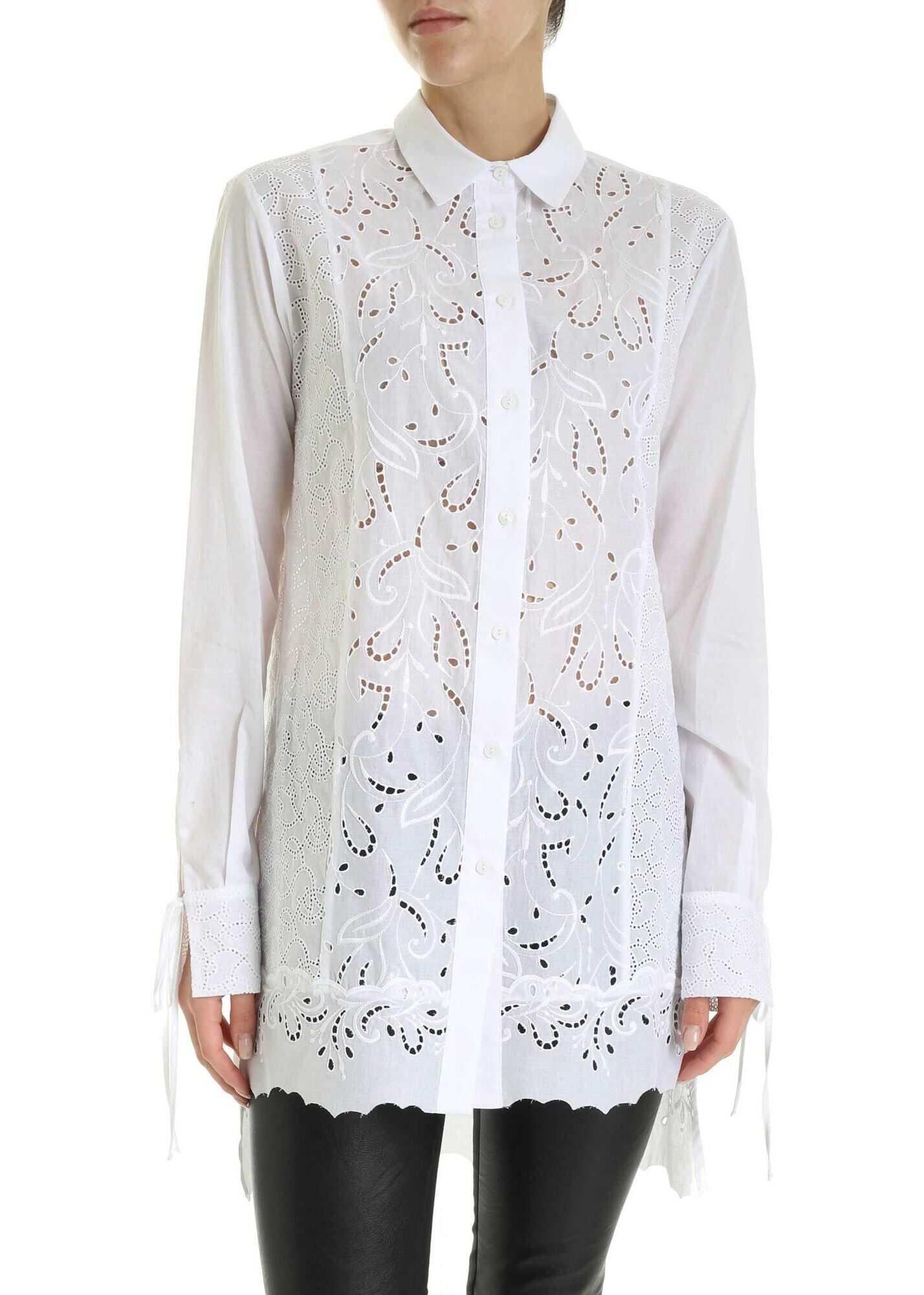 Ermanno Scervino Sangallo Long Fit Shirt In White White