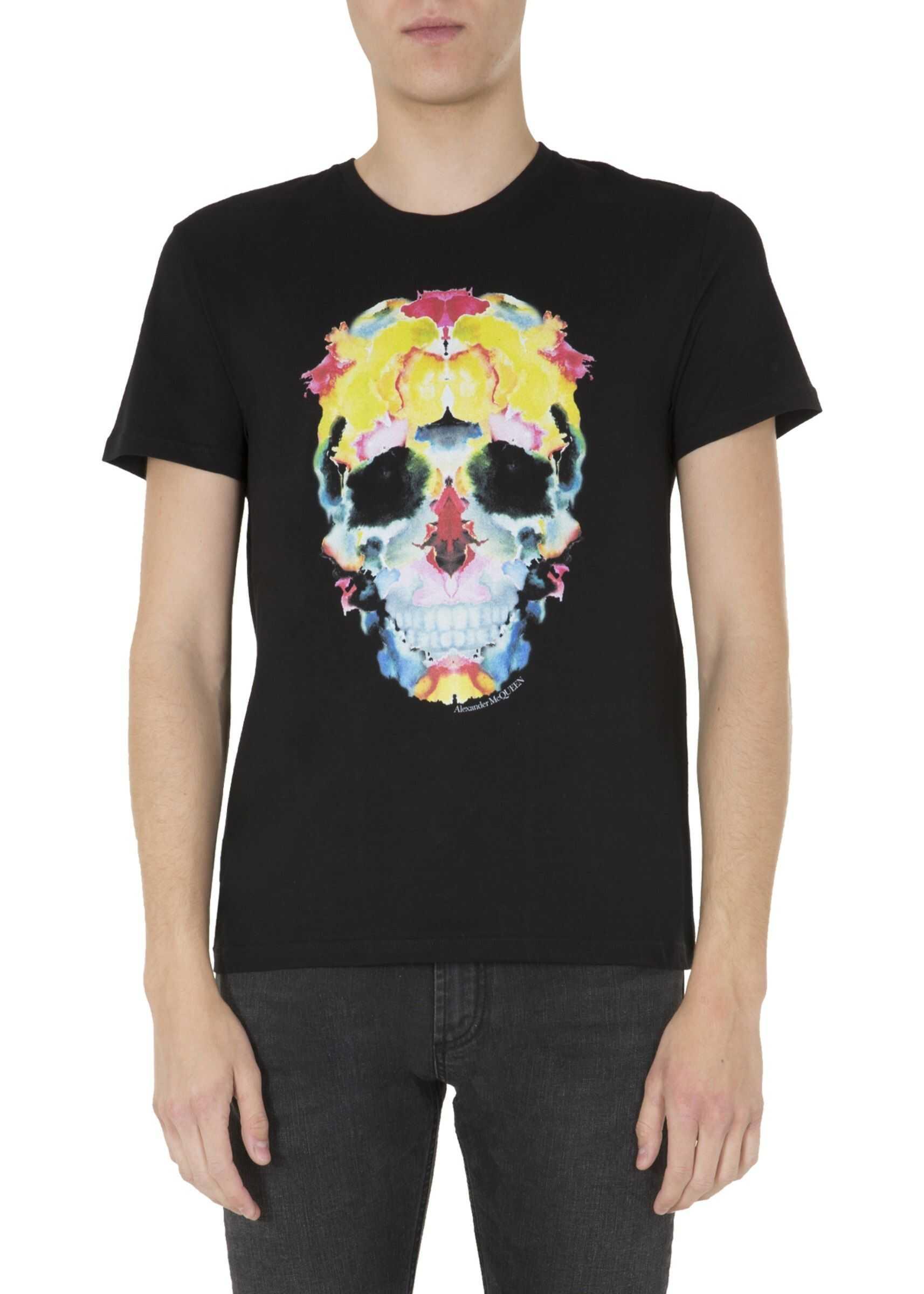 Alexander McQueen Round Neck T-Shirt BLACK