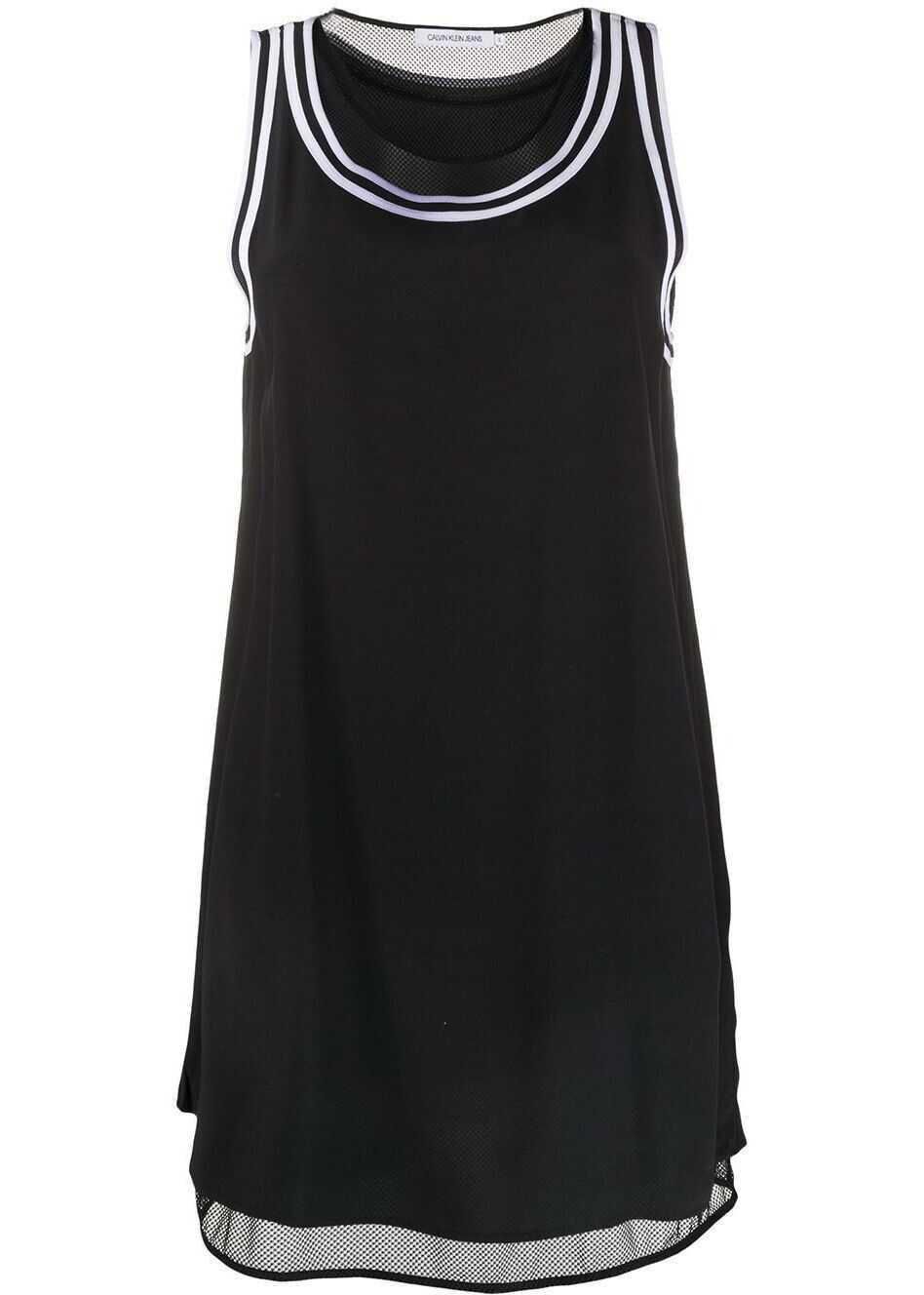Calvin Klein Jeans Viscose Dress BLACK