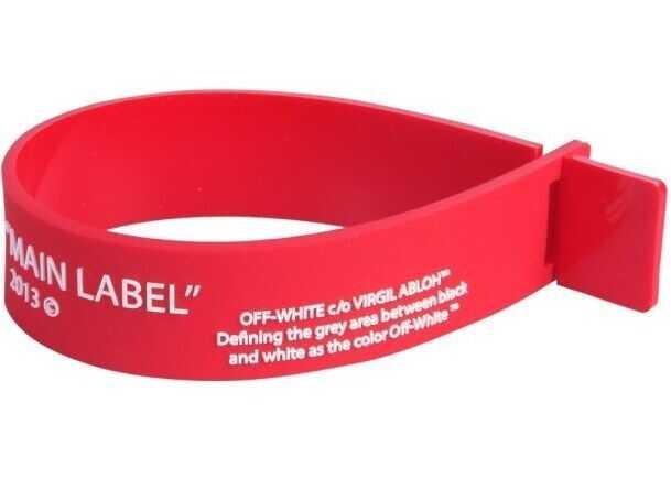 Off-White Pvc Bracelet RED