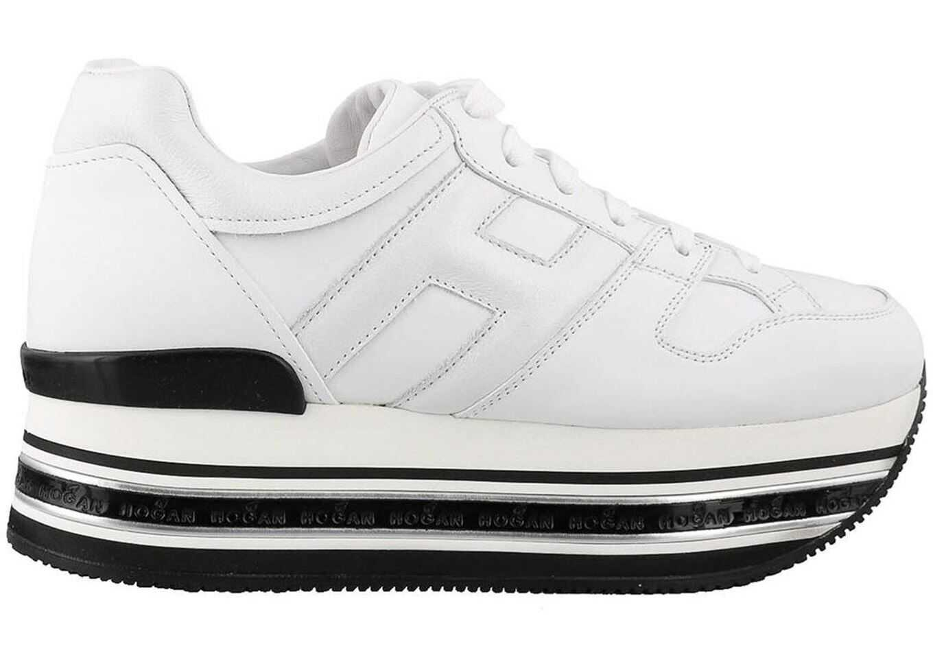 Hogan Maxi H222 Leather Sneakers White