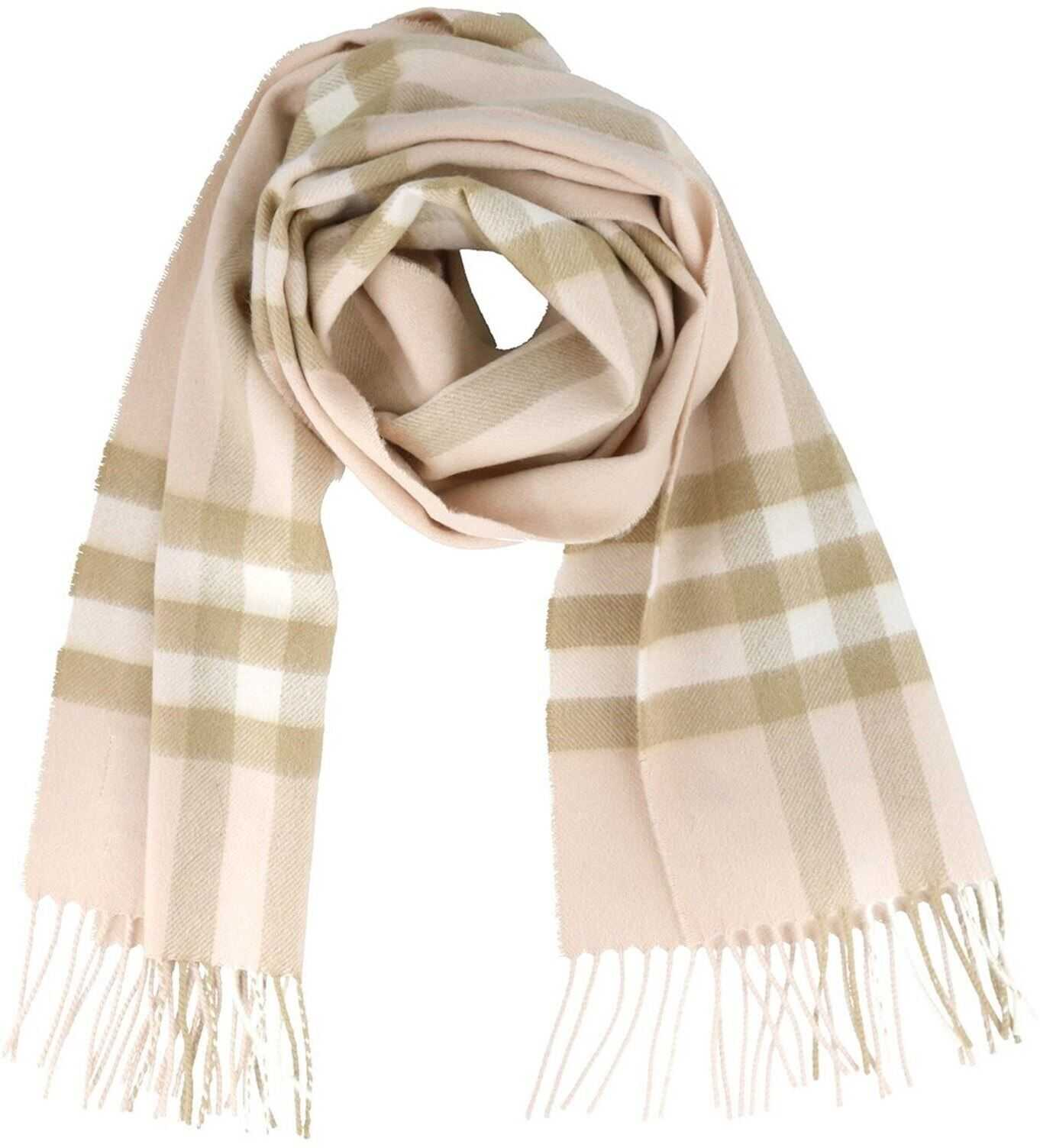 Burberry Giant Check Cashmere Scarf Beige
